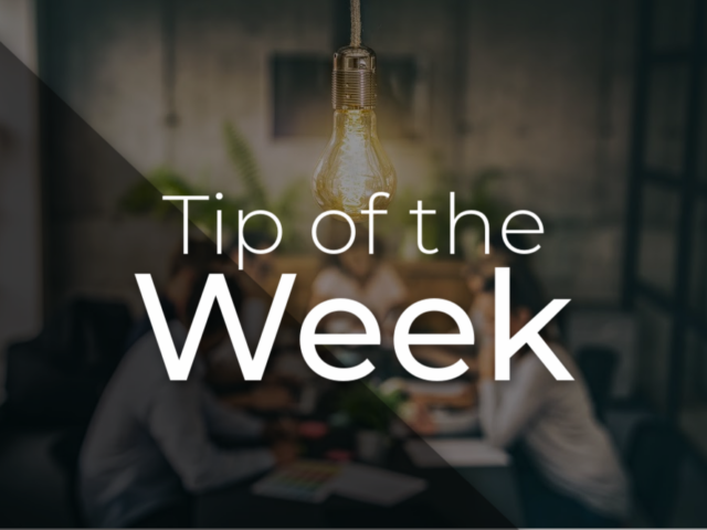 Black- Tip of the Week